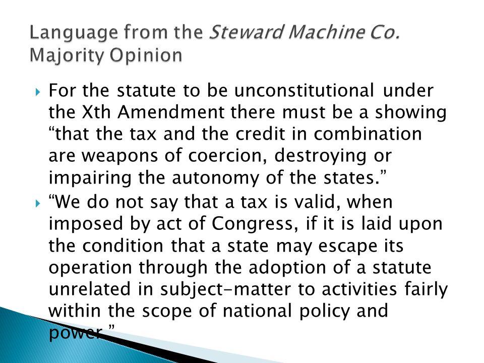 Language from the Steward Machine Co. Majority Opinion
