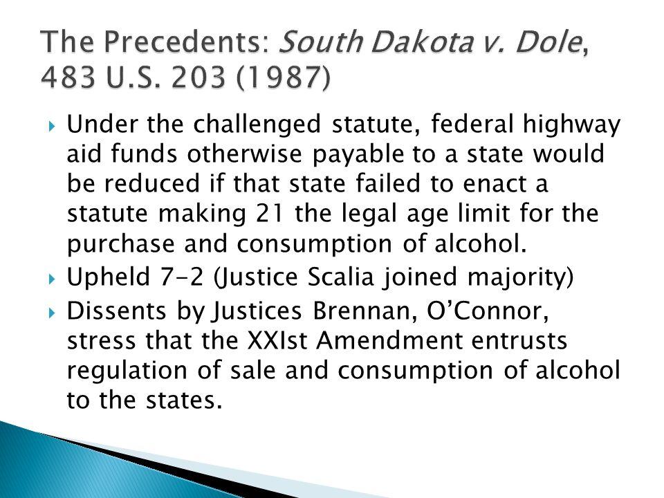 The Precedents: South Dakota v. Dole, 483 U.S. 203 (1987)