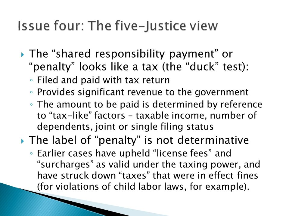 Issue four: The five-Justice view