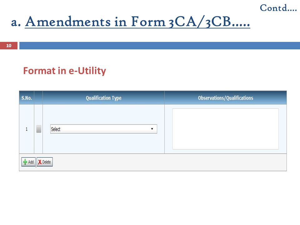 a. Amendments in Form 3CA/3CB…..