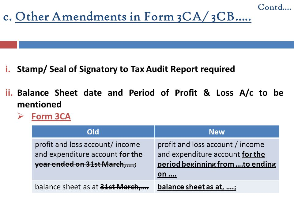 c. Other Amendments in Form 3CA/ 3CB…..