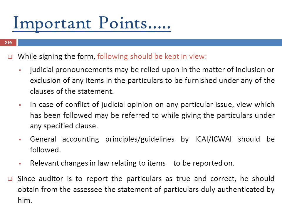 Important Points….. While signing the form, following should be kept in view: