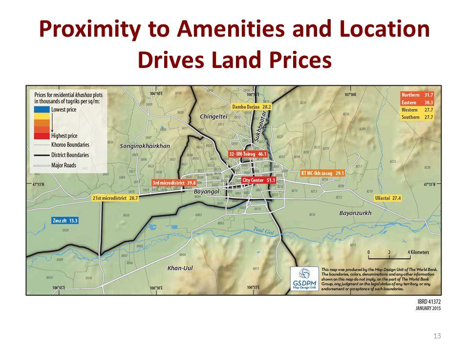 Proximity to Amenities and Location Drives Land Prices