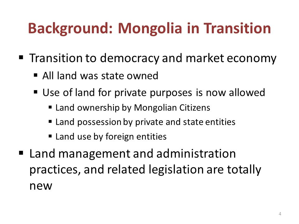 Background: Mongolia in Transition