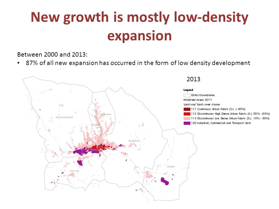 New growth is mostly low-density expansion