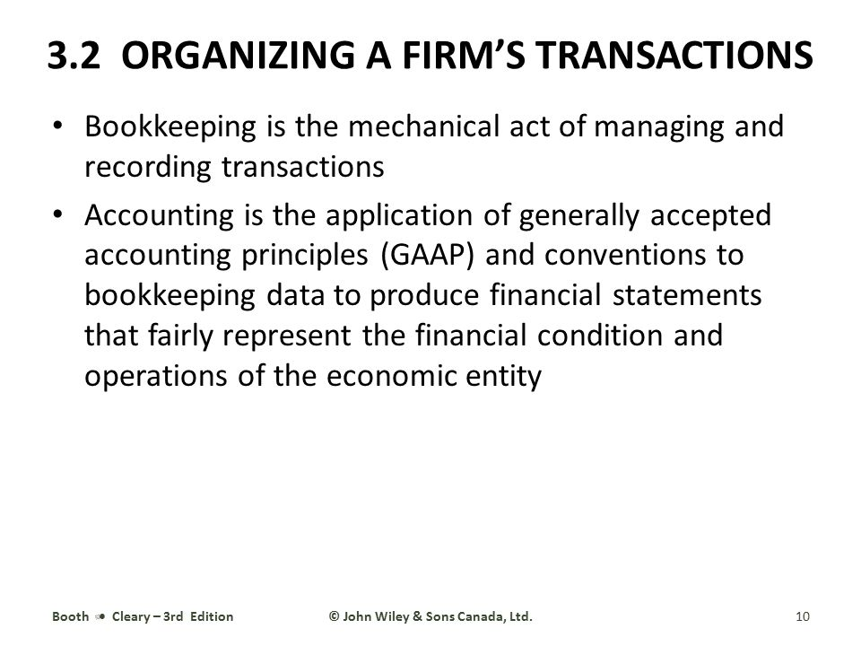 3.2 ORGANIZING A FIRM'S TRANSACTIONS