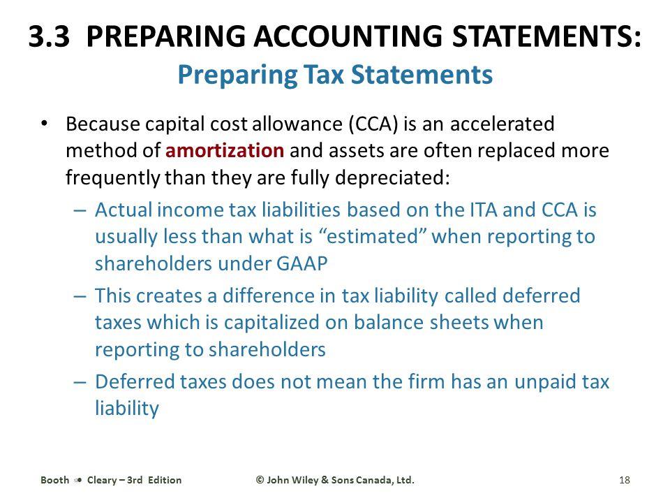 3.3 PREPARING ACCOUNTING STATEMENTS: Preparing Tax Statements