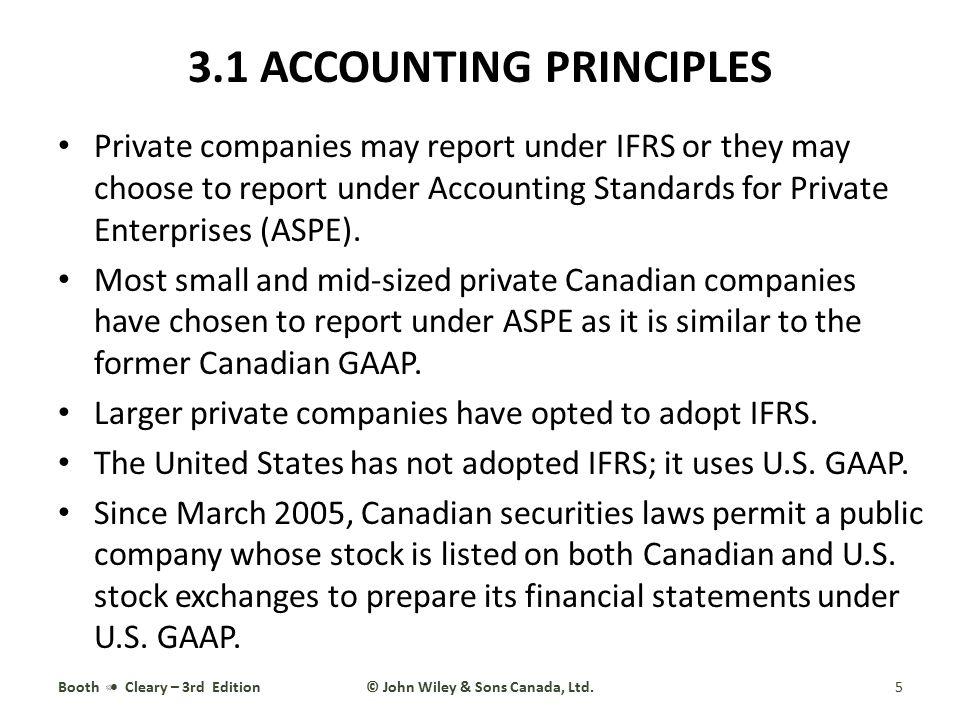 3.1 ACCOUNTING PRINCIPLES