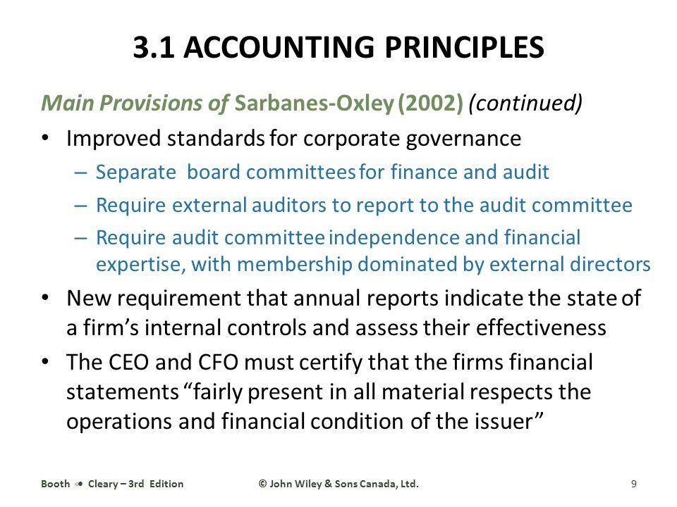 3.1 ACCOUNTING PRINCIPLES © John Wiley & Sons Canada, Ltd.