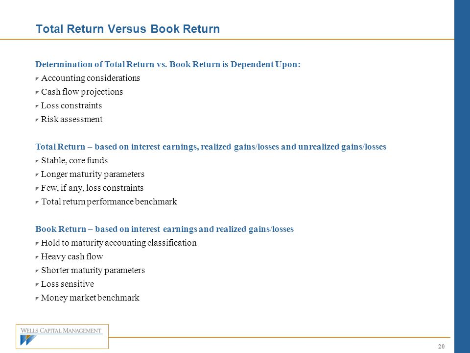Total Return Versus Book Return
