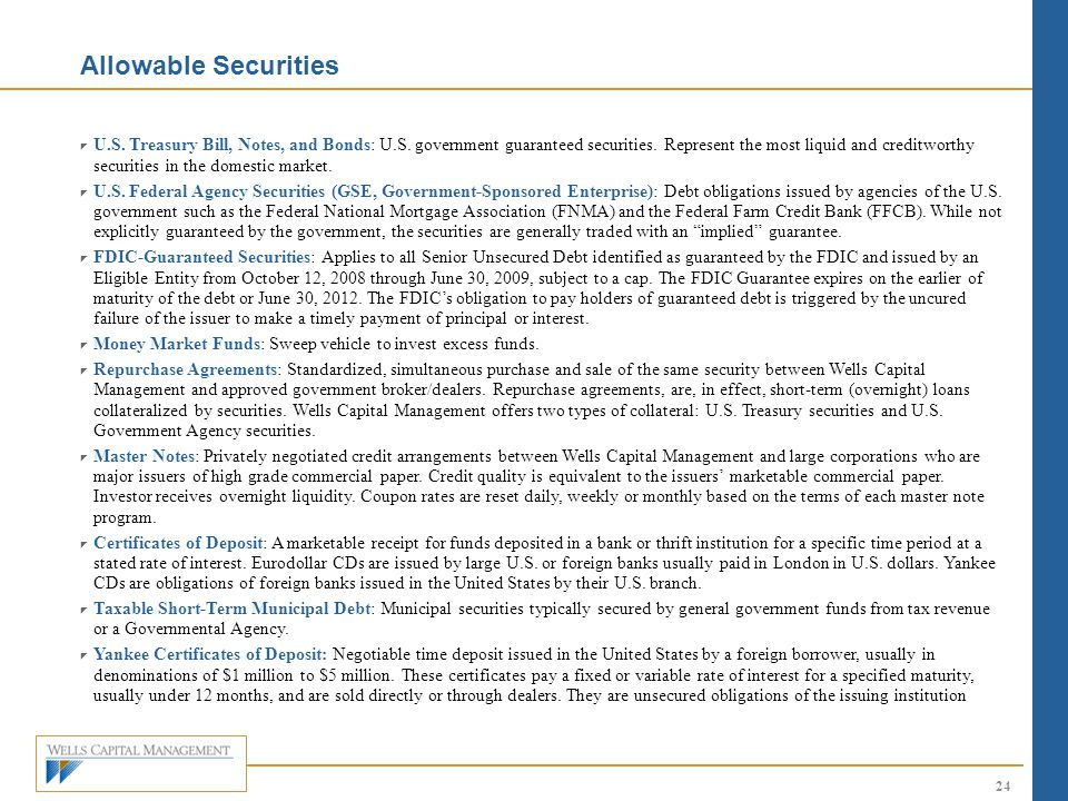 Allowable Securities