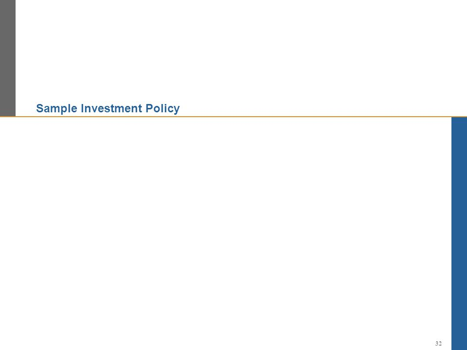 Sample Investment Policy