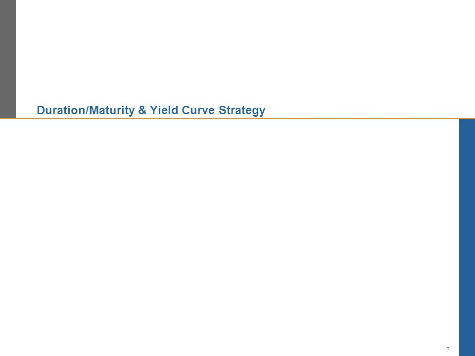 Duration/Maturity & Yield Curve Strategy
