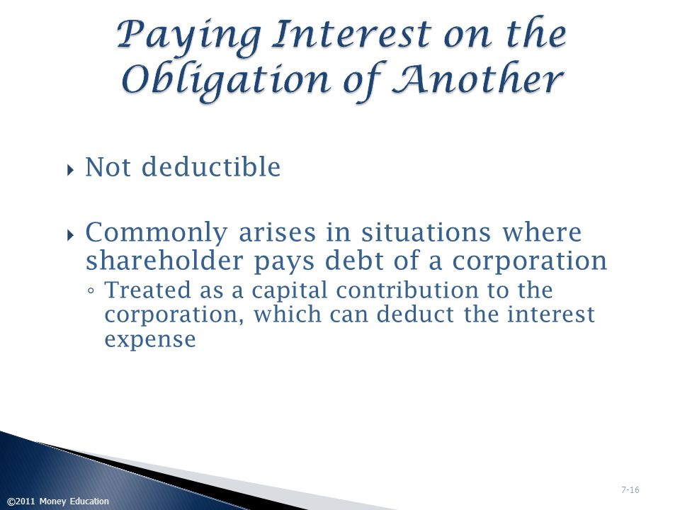 Paying Interest on the Obligation of Another