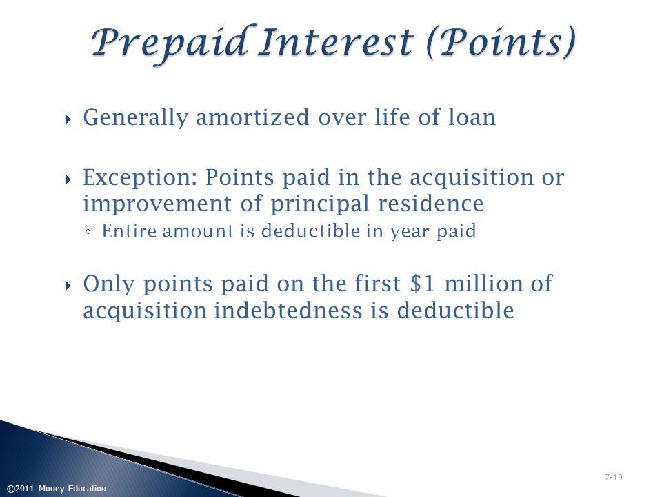 Prepaid Interest (Points)
