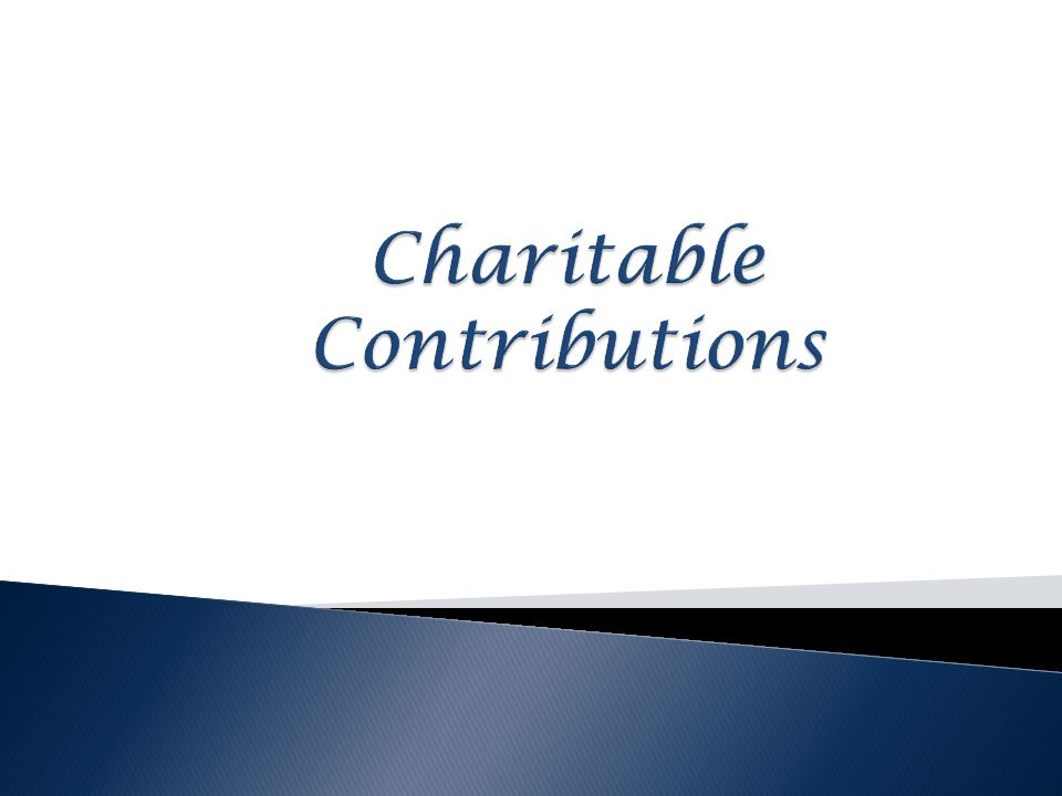 Charitable Contributions
