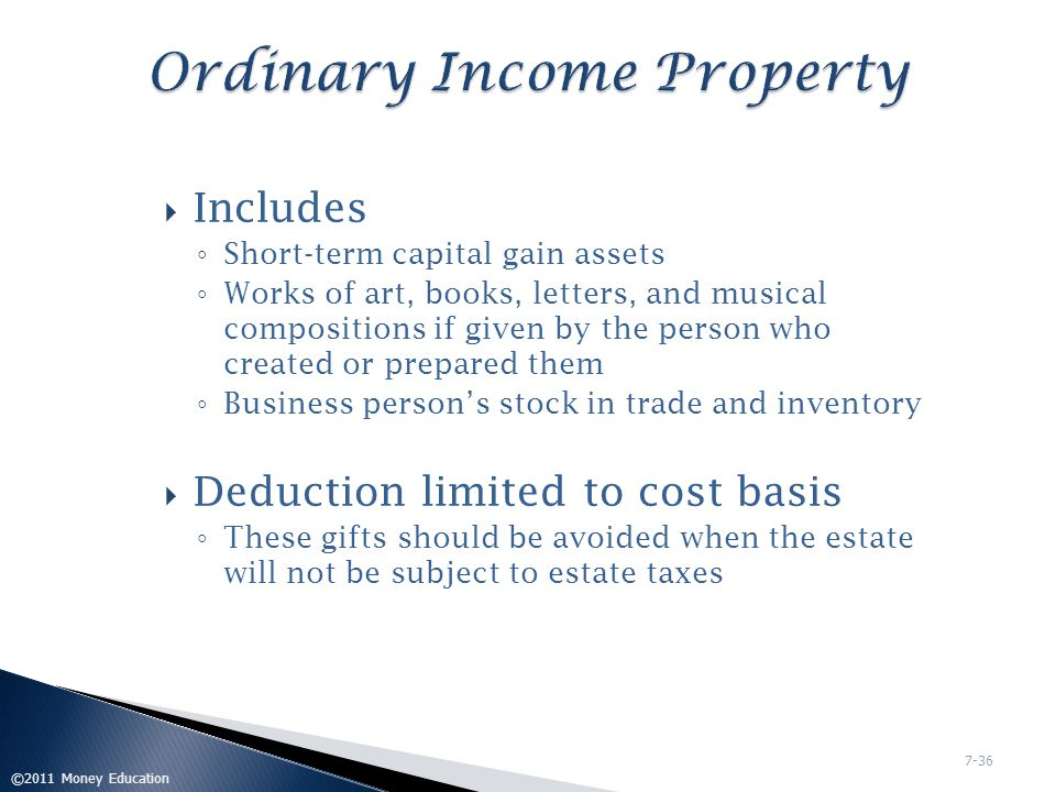 Ordinary Income Property
