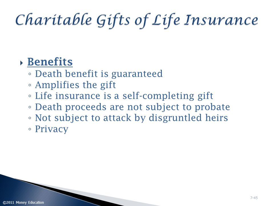 Charitable Gifts of Life Insurance