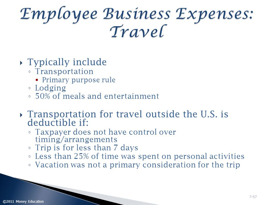 Employee Business Expenses: Travel