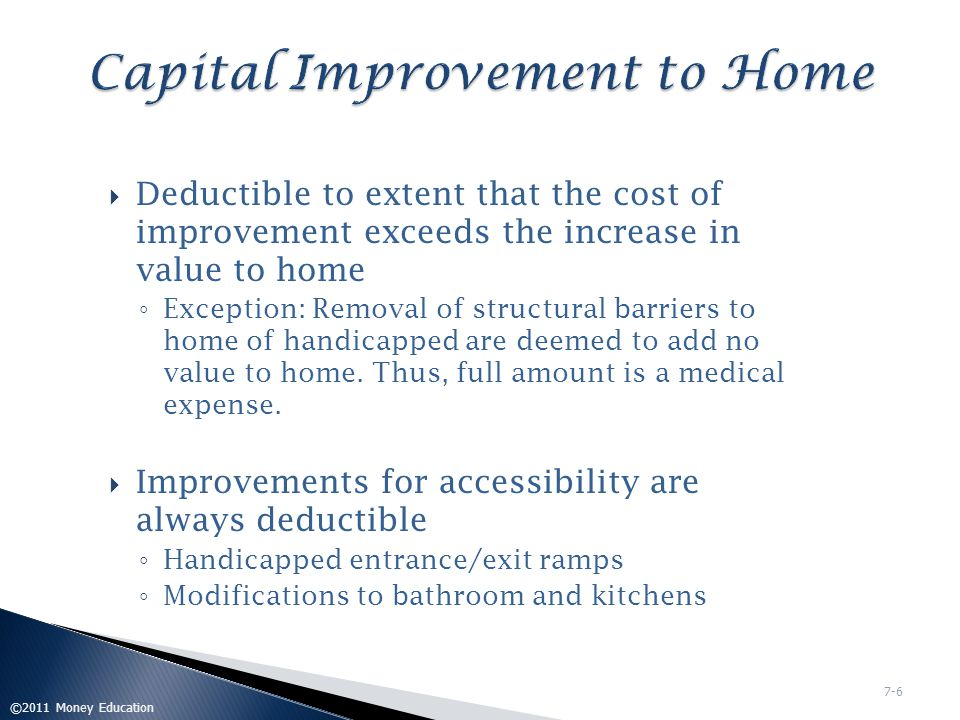 Capital Improvement to Home
