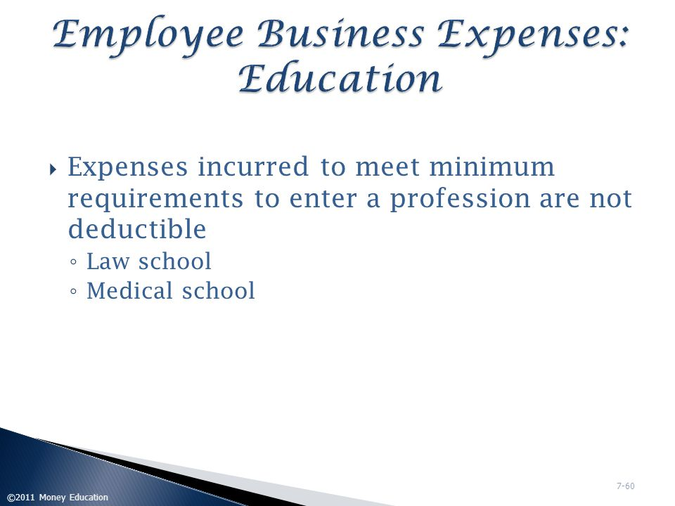Employee Business Expenses: Education