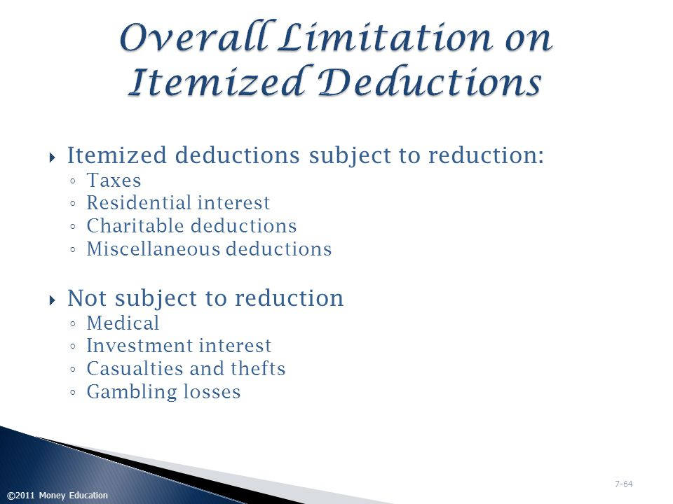 Overall Limitation on Itemized Deductions