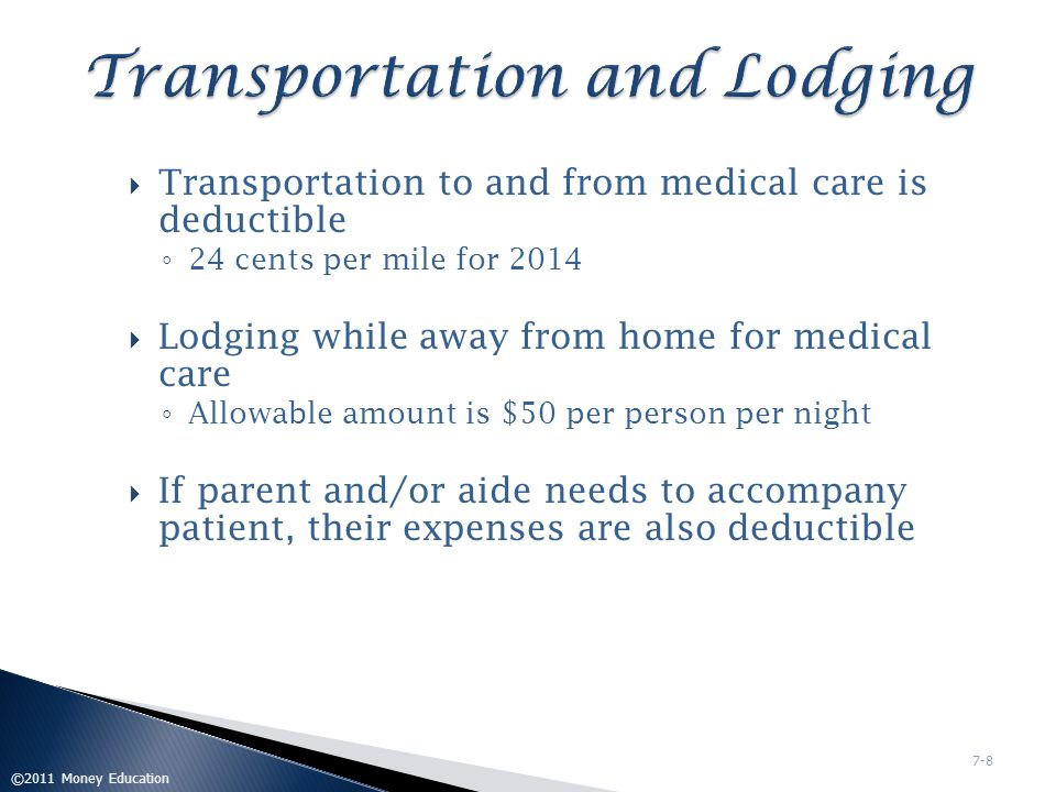 Transportation and Lodging