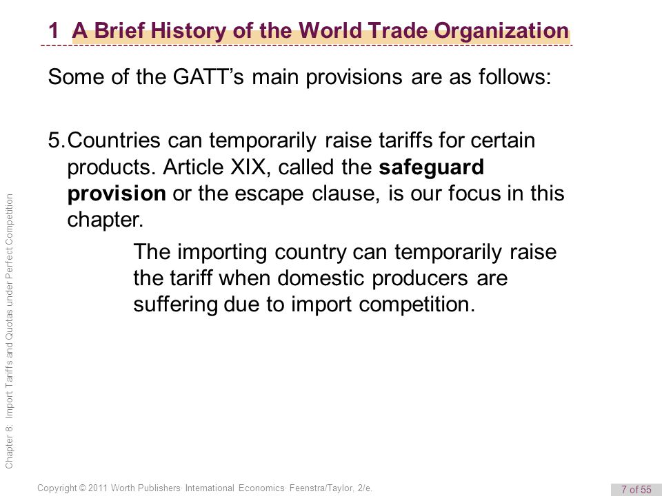 1 A Brief History of the World Trade Organization