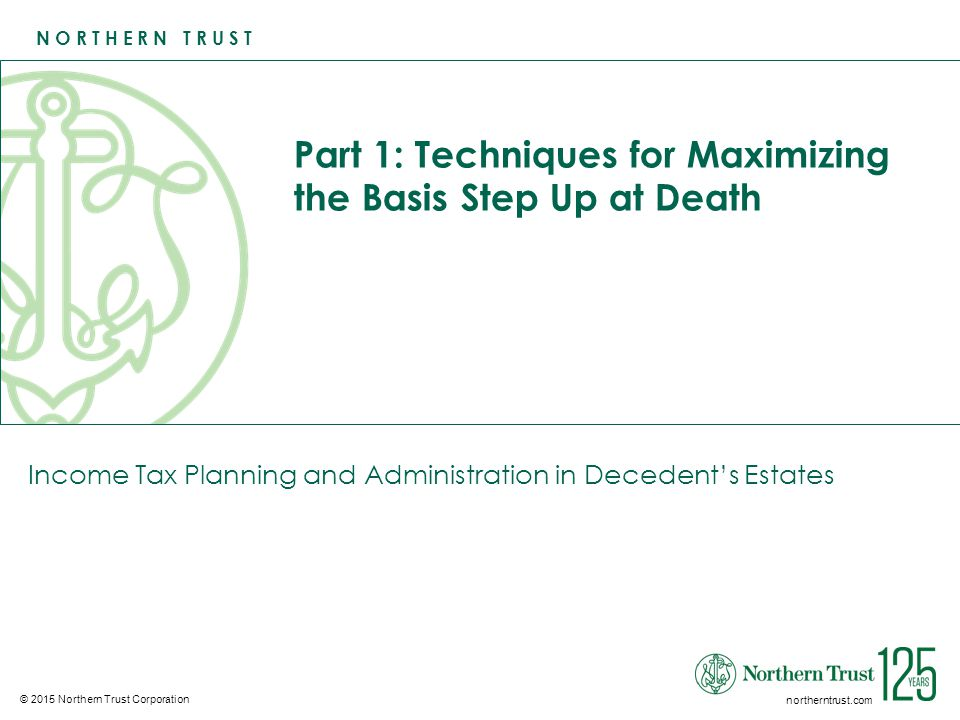 Part 1: Techniques for Maximizing the Basis Step Up at Death