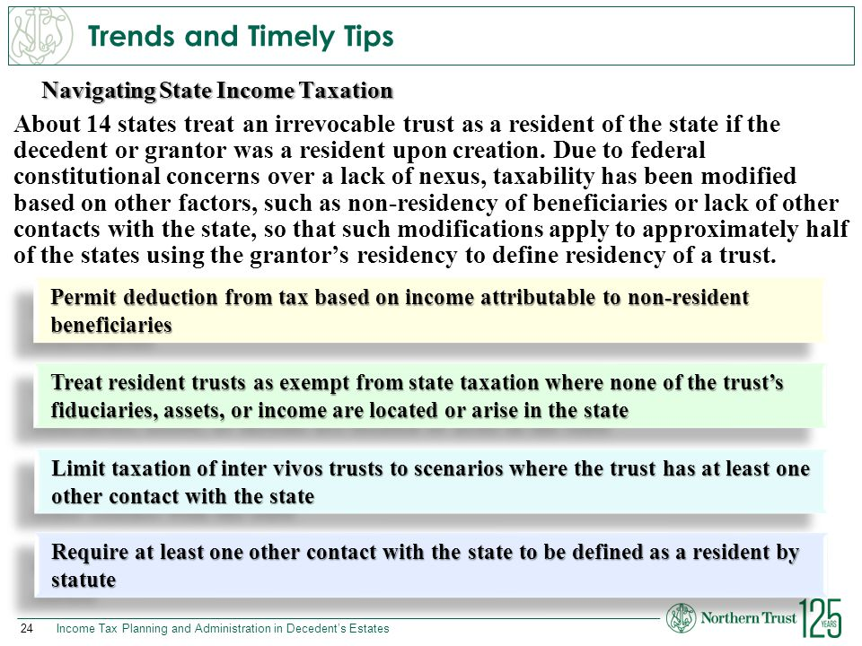 Trends and Timely Tips Navigating State Income Taxation.