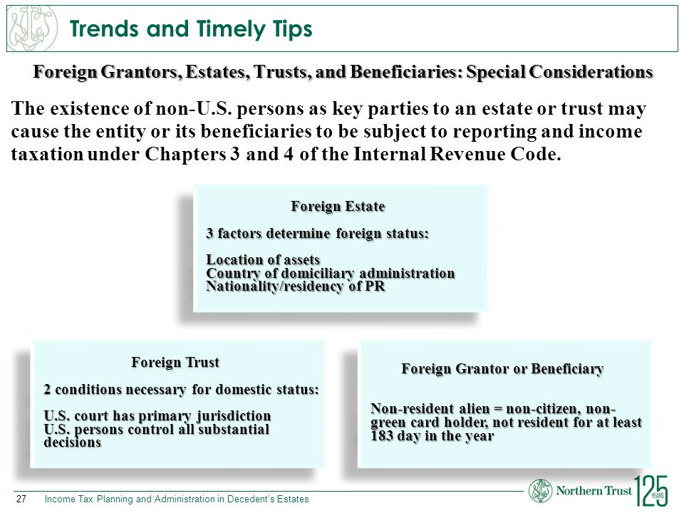 Foreign Grantor or Beneficiary