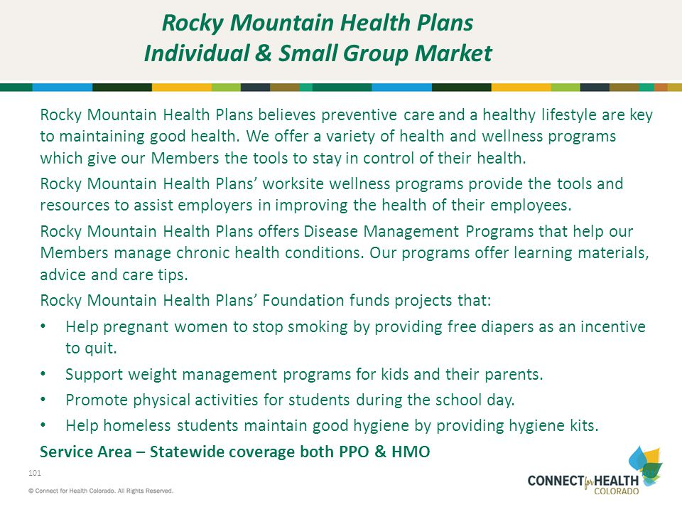 Rocky Mountain Health Plans Individual & Small Group Market