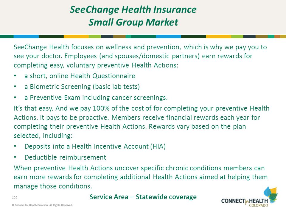 SeeChange Health Insurance Small Group Market