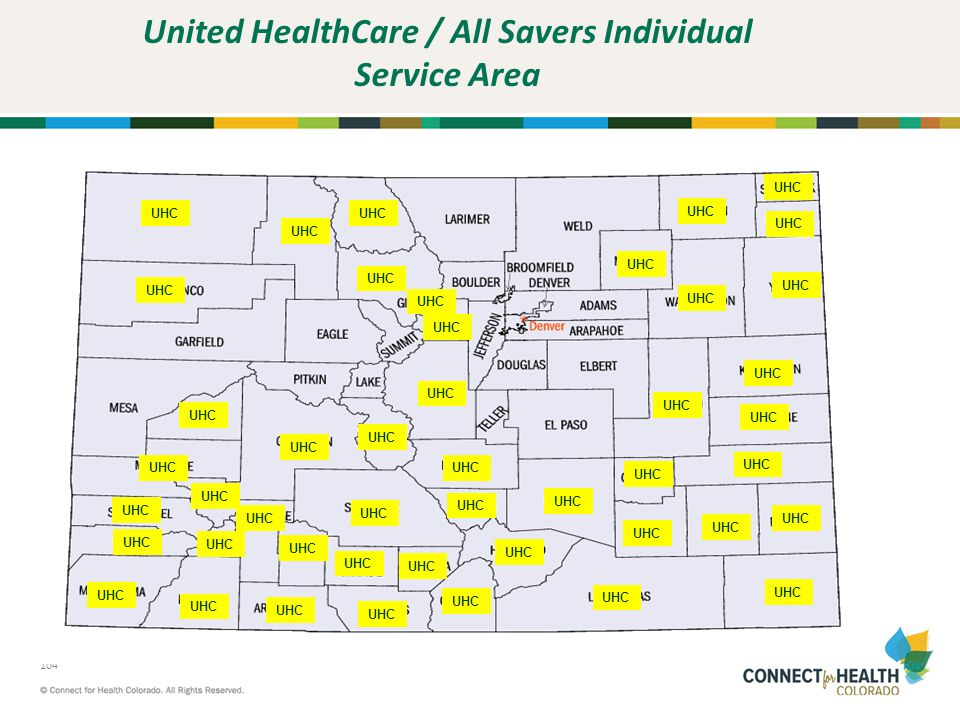 United HealthCare / All Savers Individual Service Area