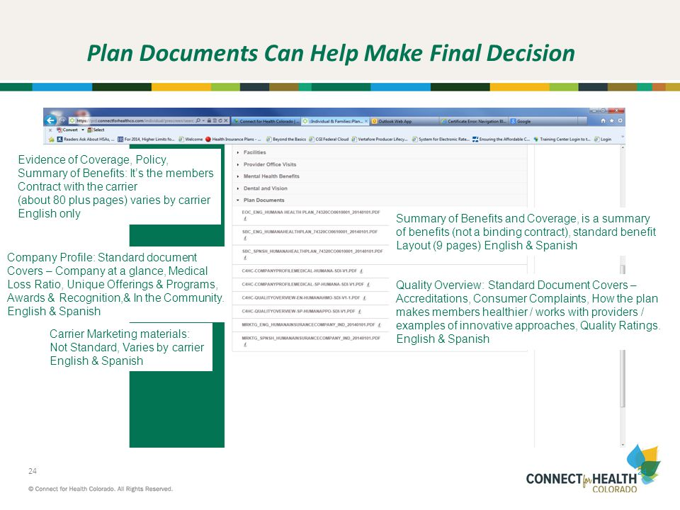 Plan Documents Can Help Make Final Decision