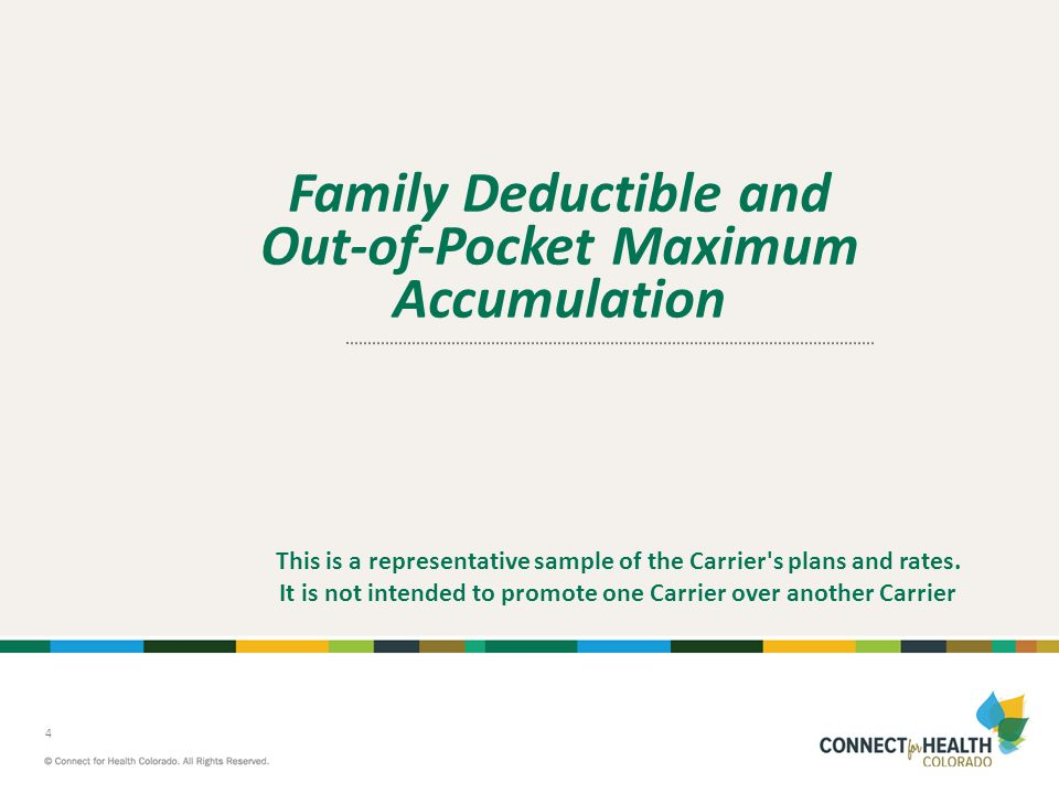 Family Deductible and Out-of-Pocket Maximum Accumulation