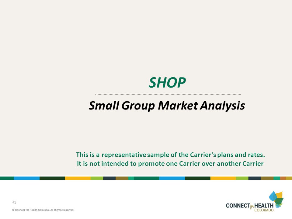 Small Group Market Analysis