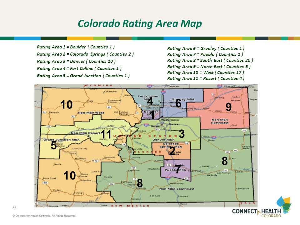 Colorado Rating Area Map