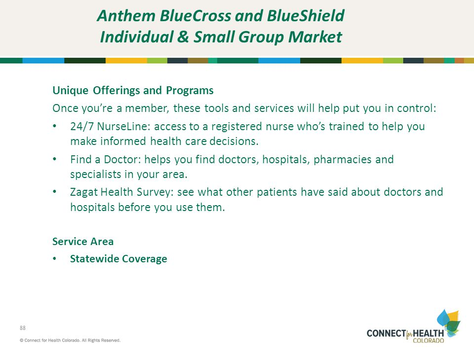 Anthem BlueCross and BlueShield Individual & Small Group Market
