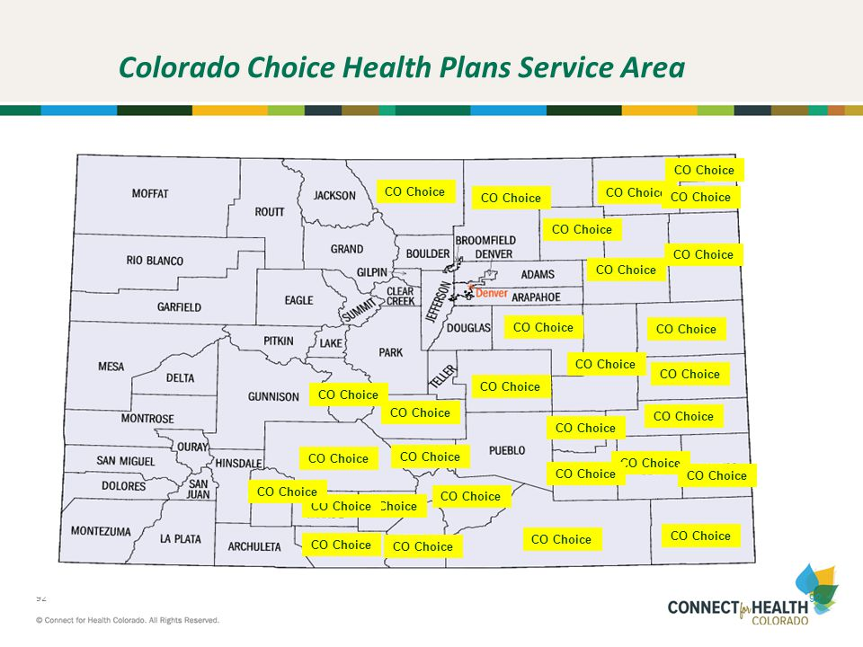 Colorado Choice Health Plans Service Area