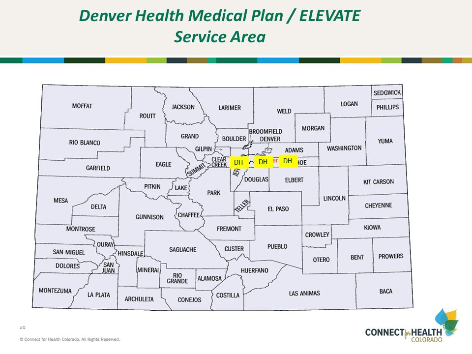 Denver Health Medical Plan / ELEVATE Service Area