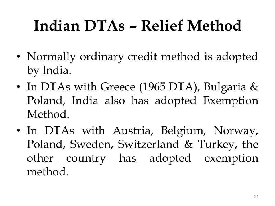 Foreign Tax Credit – Indian Rules