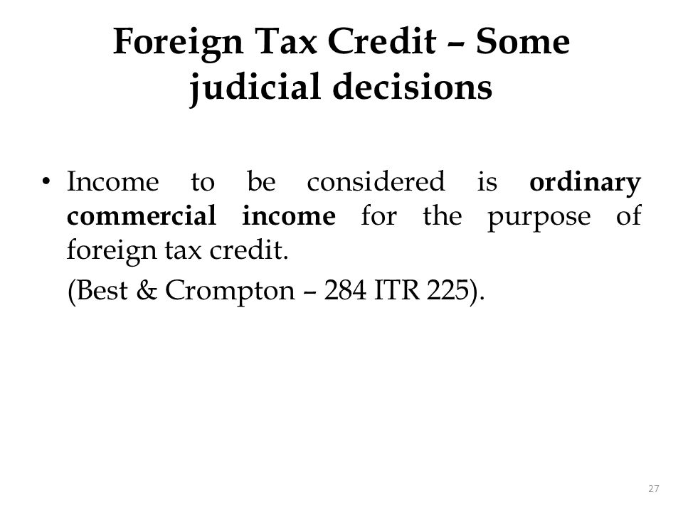 Foreign Tax – Deductible expenditure
