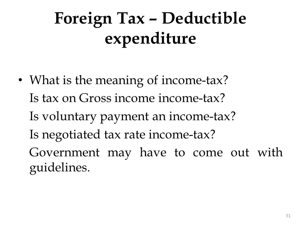 Underlying Tax Credit UTC means credit for corporate tax.