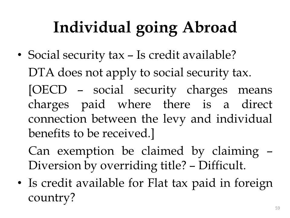 Taxes Article 2 – deals with taxes covered by the DTA.