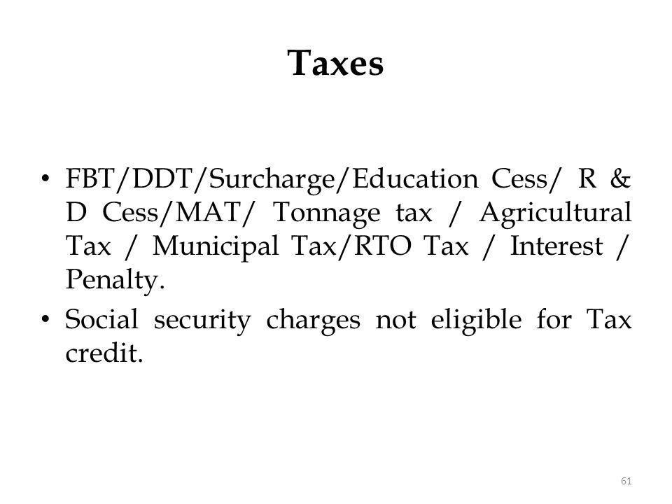 Dividend Distribution Tax (DDT)