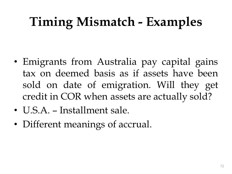 Timing Mismatch - Examples