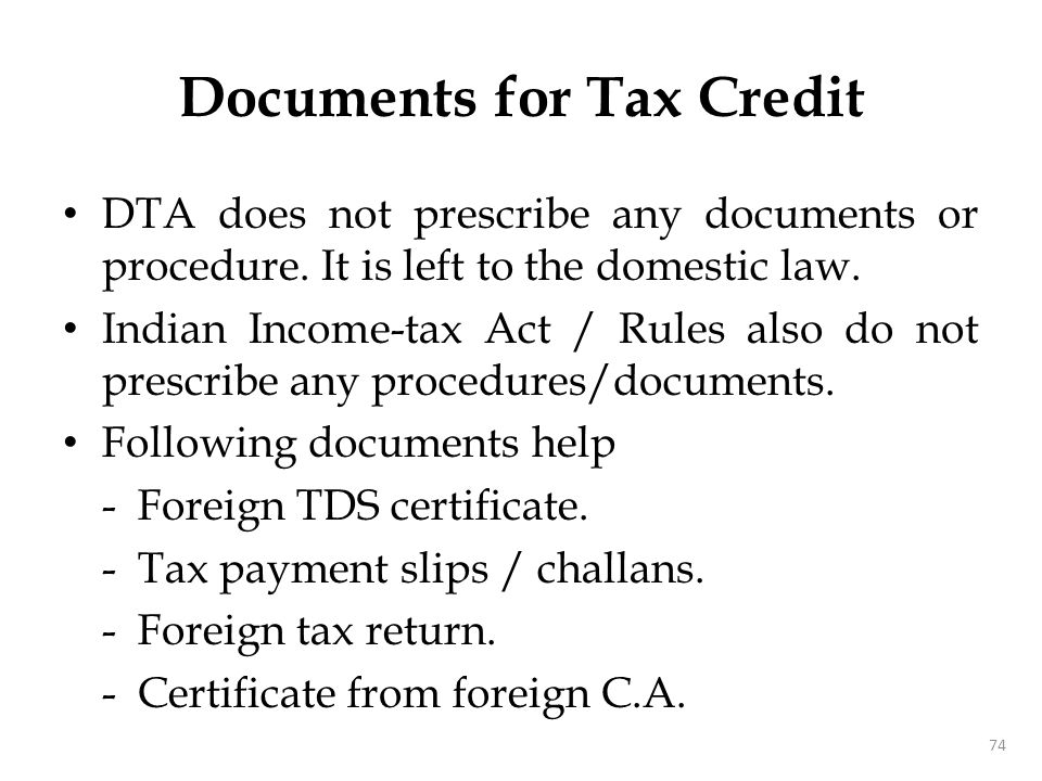 Double Tax - Unrelieved