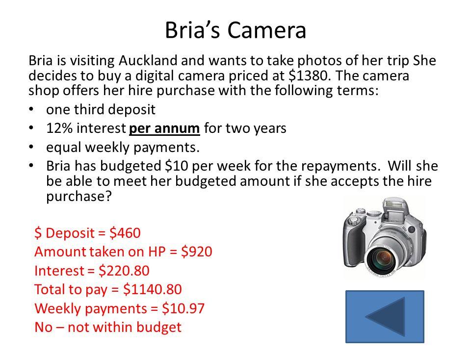 Bria's Camera