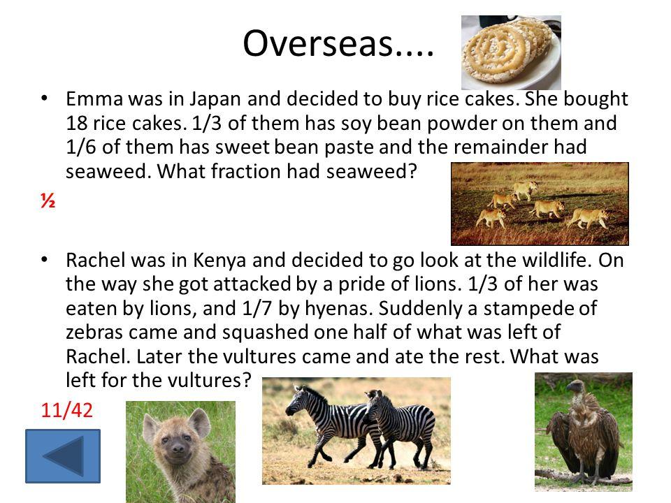 Overseas....